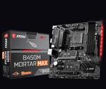 Плата MSI B450M Mortar Max для чипов AMD поддерживает подсветку Mystic Light