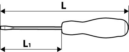Схематический рисунок отвертки