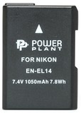 Аккумулятор PowerPlant Nikon EN-EL14 Chip 1050mAh (DV00DV1290)