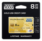 USB 8Gb Goodram Gold Credit Card