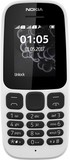 Nokia 105 New 2017 Single Sim White