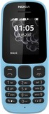 Nokia 105 New 2017 Single Sim Blue