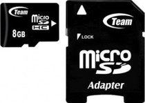microSDHC 8GB Team Class 4+adapter