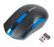 Мышь беспроводная A4Tech G3-200N Black/Blue USB V-Track