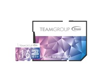 Карта памяти MicroSDHC 16GB UHS-I/U3 Team Color II + SD-adapter Purple/Blue (TCIIUSDH16GU349)