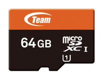 Карта памяти microSDXC 64Gb UHS-1 10 Team+adapter