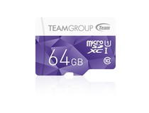 Карта памяти MicroSDXC 64GB UHS-I Team Color Purple (TCUSDX64GUHS02)