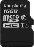 Карта памяти MicroSDHC 16GB UHS-I Class 10 Kingston Canvas Select (SDCS/16GBSP)
