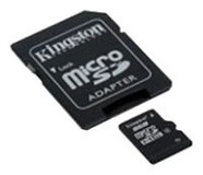 Карта памяти MicroSDHC 32GB Kingston Class 4 + SD-adapter (SDC4/32GB)