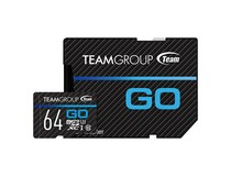 Карта памяти MicroSDXC  64GB UHS-I/U3 Team Go R90/W45MB/s + SD-адаптер (TGUSDX64GU303)