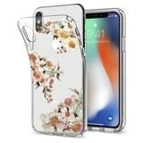 Чехол-накладка Spigen Liquid Crystal для Apple iPhone X Aquarelle Primrose (057CS22785)