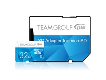 Карта памяти MicroSDHC 32GB UHS-I Team Color + SD-adapter Blue (TCUSDH32GUHS40)