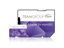 Карта памяти MicroSDXC 64GB UHS-I Team Color + SD-adapter Purple (TCUSDX64GUHS41)