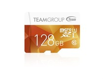 Карта памяти MicroSDXC 128GB UHS-I Team Color + SD-adapter Yellow (TCUSDX128GUHS42)