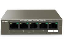 Коммутатор TENDA TEG1105P-4-63W (1xGE+4xGE PoE, 58Вт max)