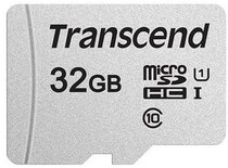 Карта памяти MicroSDHC  32GB UHS-I Class 10 Transcend 300S R95/W45MB/s + SD-adapter (TS32GUSD300S-A)