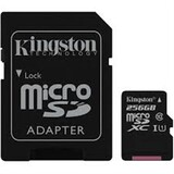 Карта памяти MicroSDXC 256GB UHS-I Class 10 Kingston Canvas Select + SD-адаптер (SDCS/256GB)