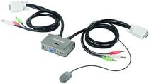 Коммутатор KVM Edimax EK-2U2CA USB с поддержкой Audio на 2 ПК с кабелями