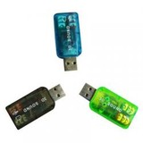 Контроллер USB-sound card (5.1) 3D sound