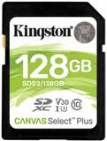 Карта памяти SDXC 128GB UHS-I/U3 Class 10 Kingston Canvas Select Plus R100/W85MB/s (SDS2/128GB)