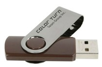 USB 8Gb Team Color Turn Brown