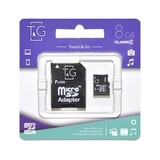 Карта памяти MicroSDHC   8GB Class 4 T&G + SD-adapter (TG-8GBSDCL4-01)