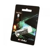 Флеш-накопитель USB 8GB Hi-Rali Shuttle Series Silver (HI-8GBSHSL)
