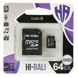 Карта памяти MicroSDHC  64GB UHS-I/U3 Class 10 Hi-Rali + SD-adapter (HI-64GBSDU3CL10-01)