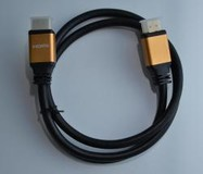 Кабель Atcom HDMI-HDMI, 1м Red/Gold connector Blister