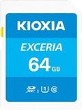Карта памяти SDXC  64GB UHS-1 Class 10 Kioxia Exceria R100MB/s (LNEX1L064GG4)