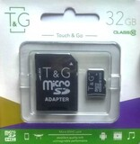 Карта памяти MicroSDHC  32GB Class 10 T&G + SD-adapter (TG-32GBSDCL10-01)