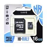MicroSDHC  16GB Class 10 Hi-Rali + SD-adapter (HI-16GBSDCL10-01)