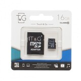 MicroSDHC  16GB Class 10 T&G + SD-adapter (TG-16GBSDCL10-01)