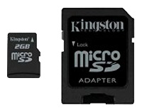 MicroSD 2Gb Kingston+adapter
