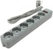 Фильтр питания Gembird SPG6-G-15G , 4,5 м кабель, 6 розеток