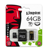 Карта памяти MicroSDXC 64GB Kingston  Class 10 Mobility Kit Gen2 (MBLY10G2/64GB)