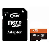 Карта памяти microSDXC 128Gb UHS-1 Team+adapter (TUSDX128GUHS03)