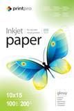 Фотобумага PrintPro глянцевая 200g/m2, 10x15, 100л (PGE2001004R)