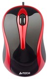 Мышь A4 N-350-2 V-TRACK Red/Black USB