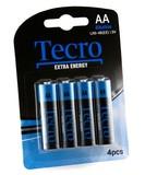 Батарейка Tecro Extra Energy Alkaline AA BLI 4 (LR6-4B(EE))