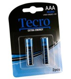 Батарейка Tecro Extra Energy Alkaline AAA BLI 2 (LR03-2B(EE))