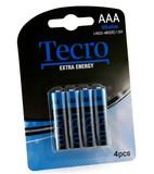 Батарейка Tecro Extra Energy Alkaline AAA BLI 4 (LR03-4B(EE))
