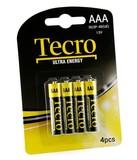 Батарейка Tecro Ultra Energy AAA BLI 4 ZN-CA (R03P-4B(UE))