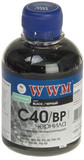 Чернила WWM CANON PG40/50/PGI5Bk/BCI-15 (Black Pigmented) (C40/BP)