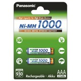 Аккумуляторы Panasonic High Capacity AAA/HR03 NI-MH 1000 mAh BL 2 шт