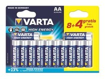 Батарейка Varta High Energy AA/LR06 BL 12 (8+4)шт