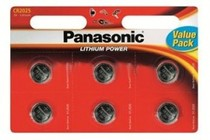 Батарейка Panasonic CR 2025 BL 6шт