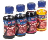 Комплект чернил WWM Universal Carmen В/C/M/Y(CARMEN/SET.4-2) 4*100